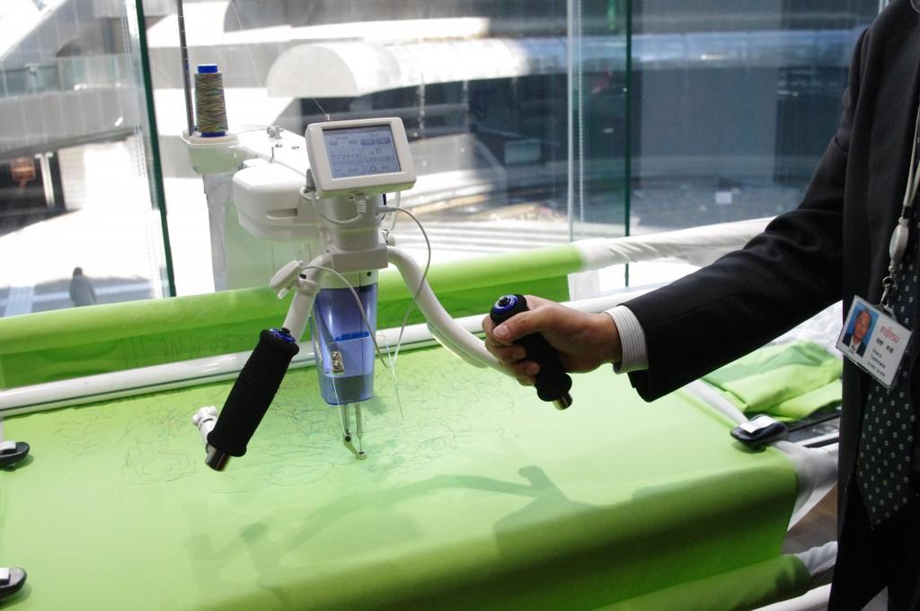 自由に縫えるミシン